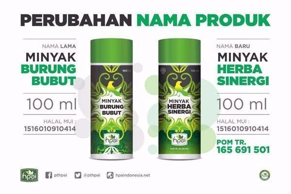 Perubahan MBB menjadi Minyak Herba Sinergi