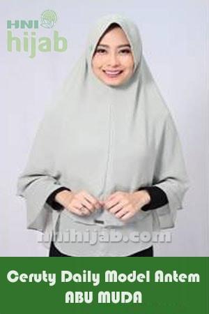 Hijab Ceruty Daily Model Antem Abu Muda