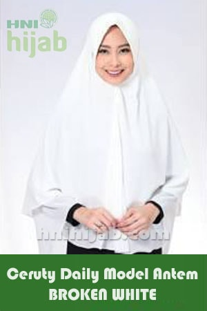Hijab Ceruty Daily Model Antem Broken White