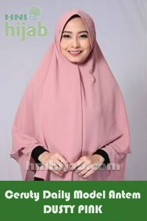 Hijab Ceruty Daily Model Antem Dusty Pink