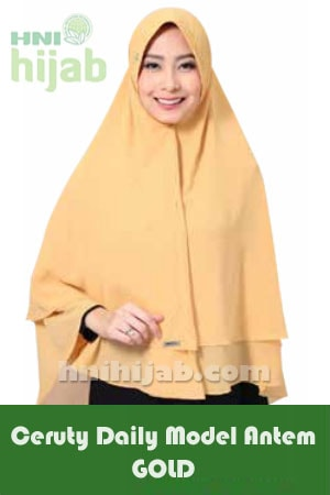 Hijab Ceruty Daily Model Antem Gold