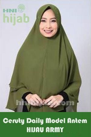 Hijab Ceruty Daily Model Antem Hijau Army