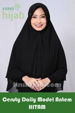 Hijab Ceruty Daily Model Antem Hitam
