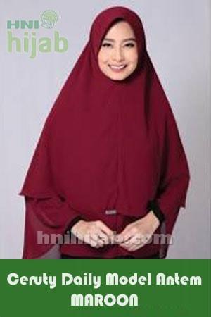 Hijab Ceruty Daily Model Antem Maroon