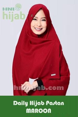Hijab Daily Pastan Maroon